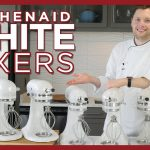 KitchenAid White Mixers - Color Comparison - Almond Cream, Frosted Pearl, Milkshake Mixer