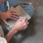 Setting tile on a Jet Tub Deck!