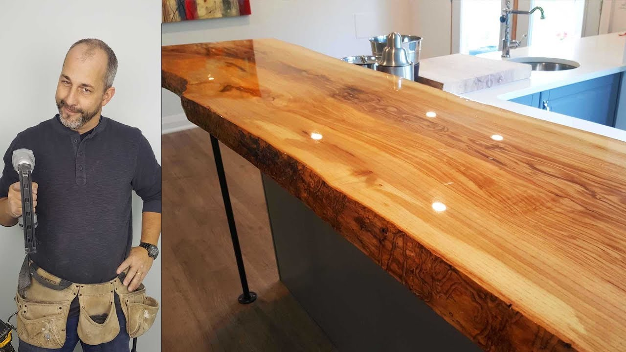 How To Build A Live Edge Counter Top For Under 500 00