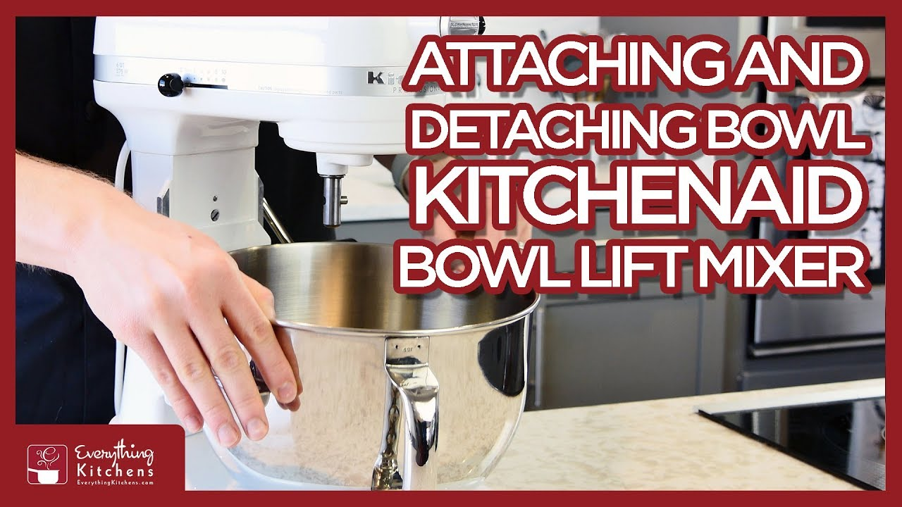 Kitchenaid Taking The Bowl On Amp Off Bowl Lift Mixer The