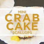 Mini Crab Cake Scallop with Mango Sauce - Appetizer