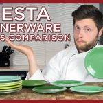 Fiesta Dinnerware Green Comparison - Meadow, Sea Mist, Chartreuse p86, Evergreen, Shamrock,  Sage