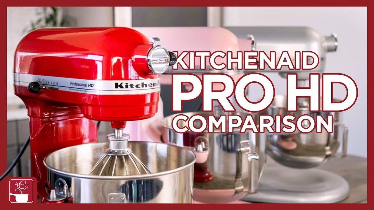 Kitchenaid Mixer Comparison Professional Hd Mixer Artisan